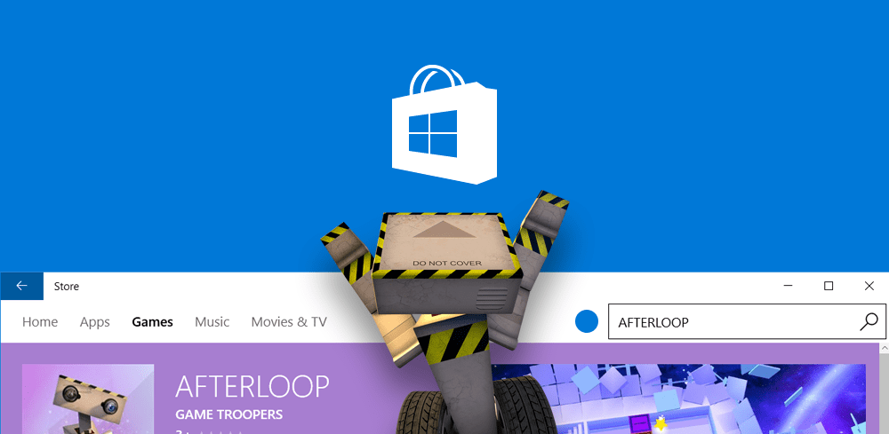 AfterLoop published on Windows Store and Windows phone