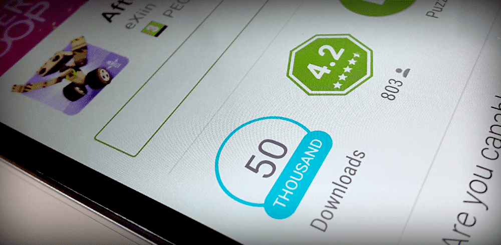 AfterLoop reached 50.000 Downloads on Android.