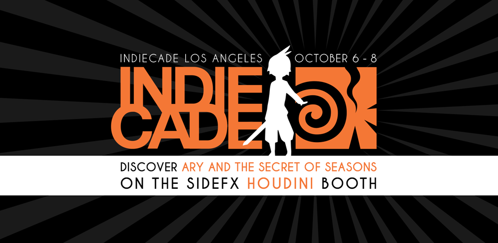 IndieCade: Ary at the Houdini Booth